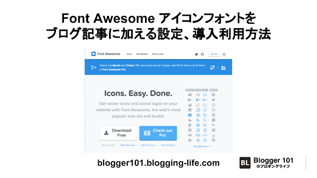 Font Awesome アイコンフォントをブログ記事に加える設定、導入利用方法