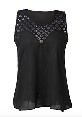 Black Mesh Top Banggood - A Glimpse of Glam