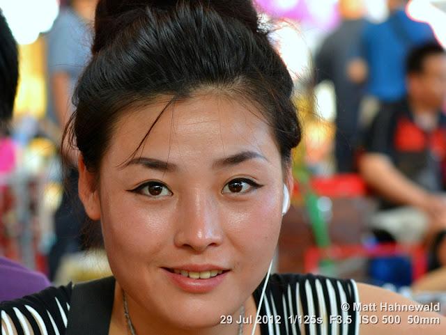 China, Panjiayuan Market, Beijing, people, street portrait, Chinese woman, Chinese beauty, saleslady