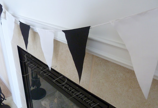 Banner03 The Big Fast Car Race Party : Black and White Pennant Banner 6