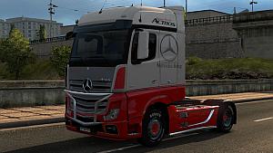 Mercedes Actros Red ASA  skin
