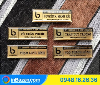 Bảng tên nhân viên đeo áo - In Bazan