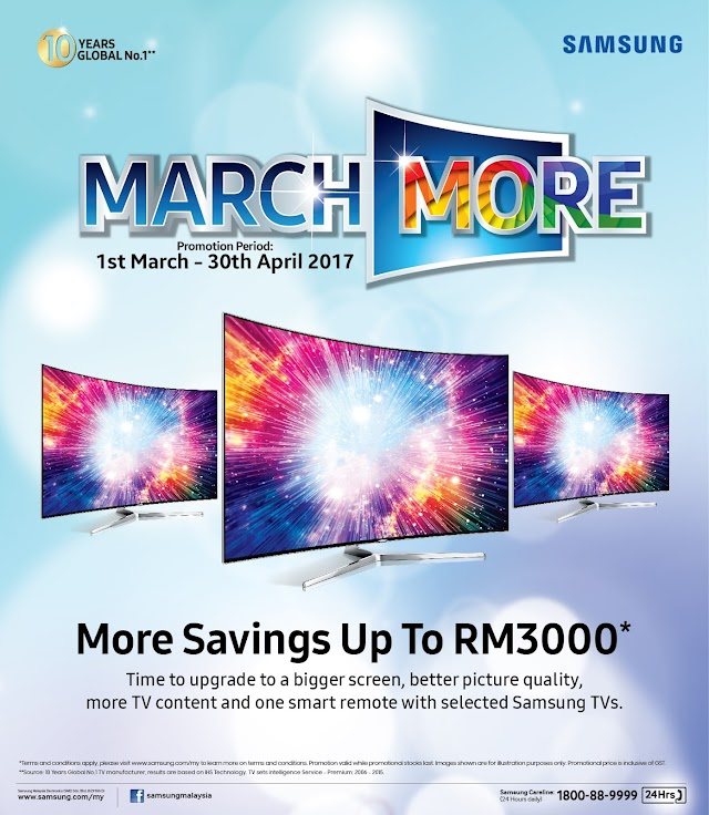 Save up to RM3,000 as Samsung offers March More Great Deals!