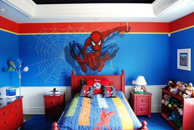 Desain Kamar Tidur Anak Laki-Laki Spiderman