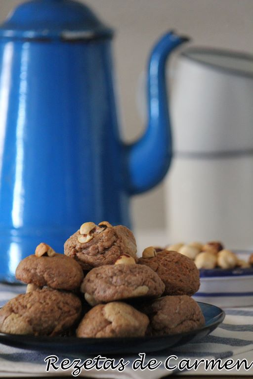 Cookies de chocolate y avellana