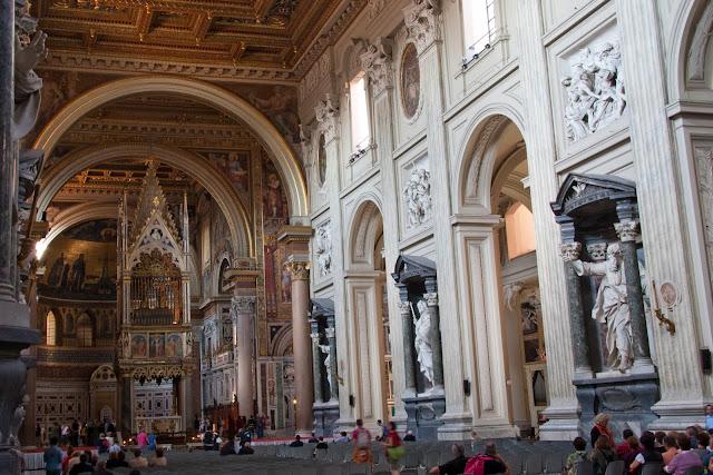 Estrutura da Basílica di San Giovanni in Laterano em Roma