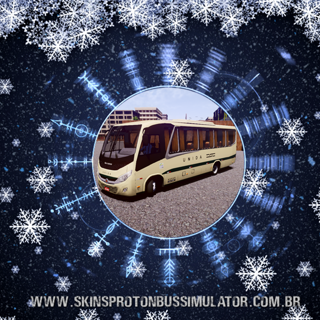 Skin Proton Bus Simulator - New Senior MB LO-916 BT5 Empresa Unida