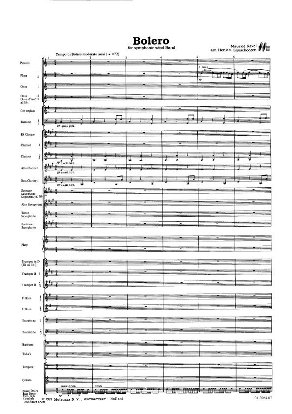 partitura para banda sinfonica