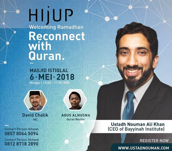 Reconnect with Quran, Nouman Ali Khan, Jakarta