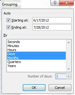 chọn ngày và tháng
