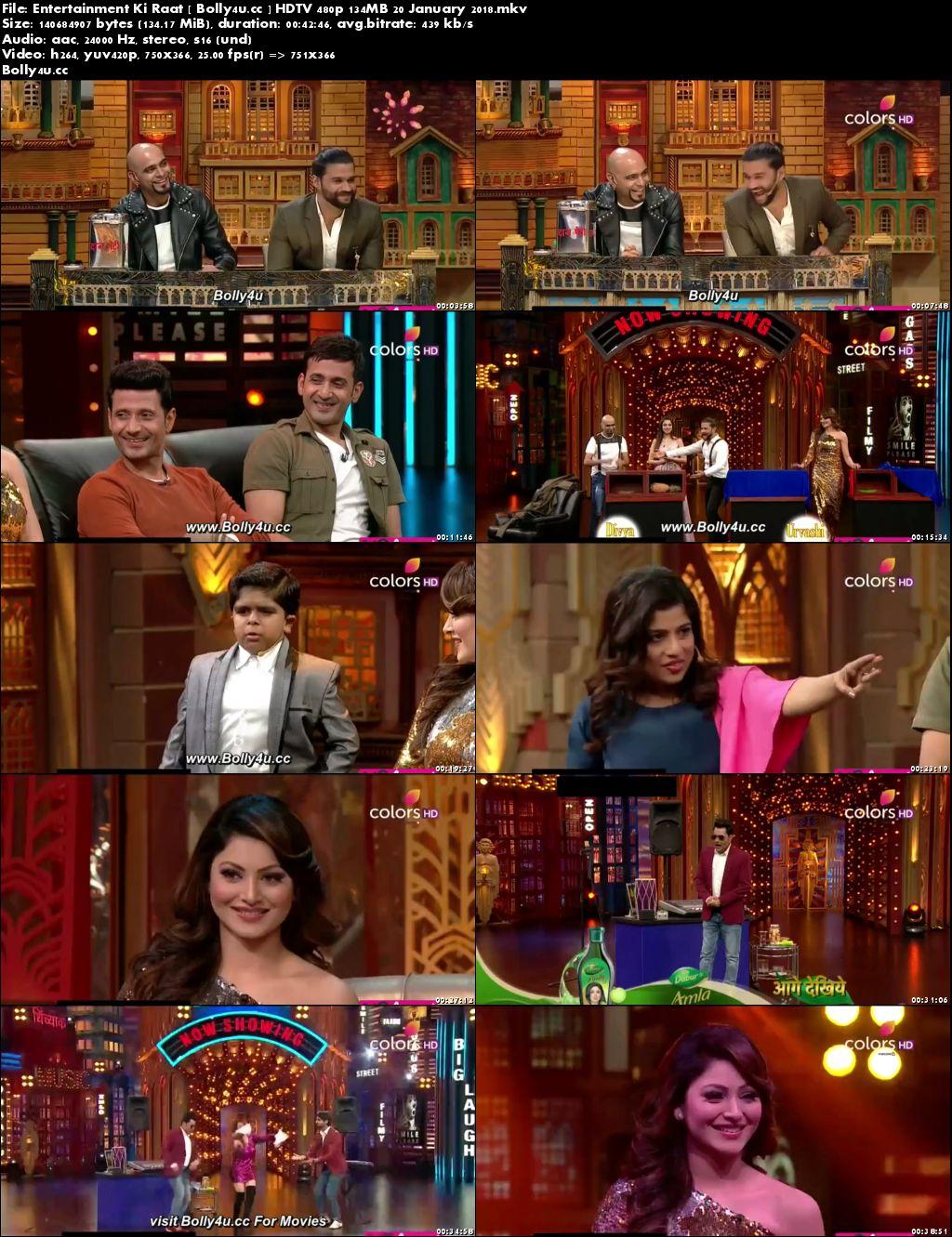 Entertainment Ki Raat HDTV 480p 130MB 20 January 2018 Download