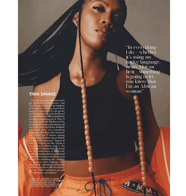 Tiwa Savage Gets Featured On British Vogue Mazagine