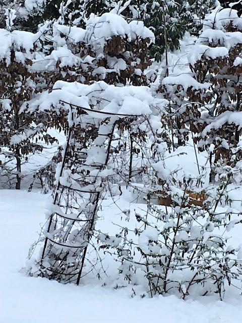 Klatrestativ med snø. Foto 2