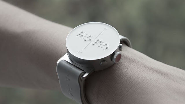 Dot is the first smartwatch for the blind: representing Braille in the clock face