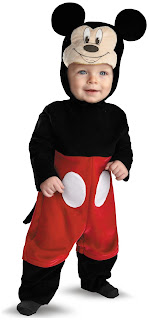 Boys Disney Mickey Mouse Infant Costume for Halloween