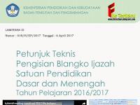 Juknis Pengisian Ijazah dan Cara Mencetak Ijazah dengan Mailing disertai dengan Blangko Ijazah SD SMP SMA