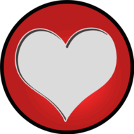 heart glowing icon