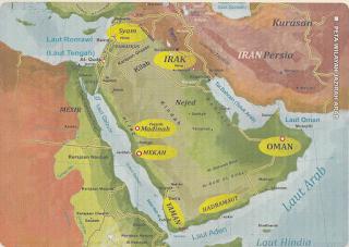 jazirah arab dipenuhi kebun dan sungai