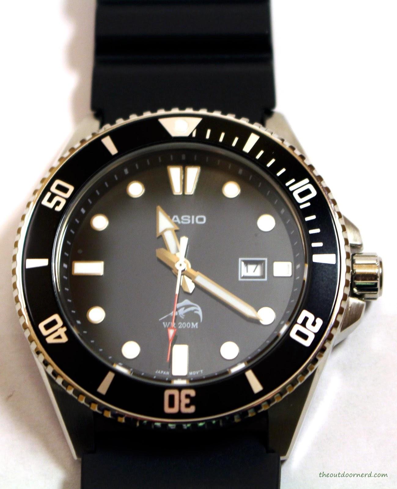 Casio MDV106-1A Diver's Watch: Closeup of Bezel