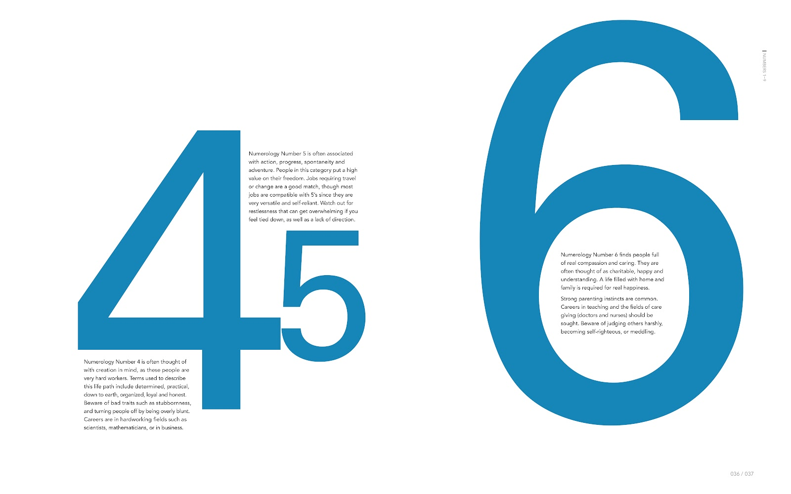 Book Design: Numbers (135 Pages)   Quentin Li