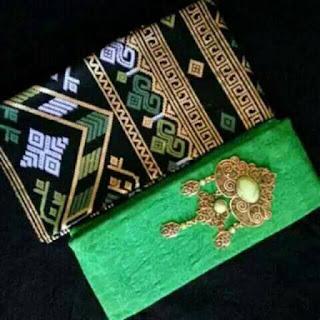 Kain Batik dan Embos 1008 Pekalongan motif Prada Hijau