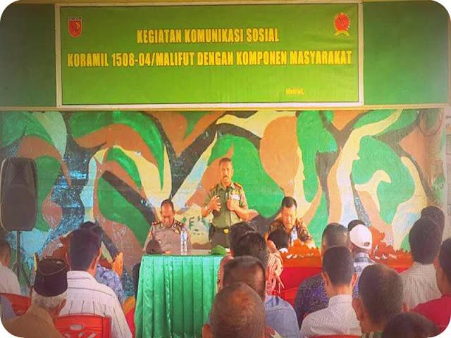 TNI AD Gelar Komunikasi Sosial dengan Warga di Malifut dan Kao Teluk