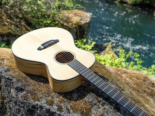 Breedlove and Bedell guitars available at the Tetherow resort for loan to guests