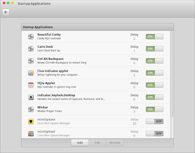 Cara Mengatur Waktu Delay StartUp Application Linux Mint