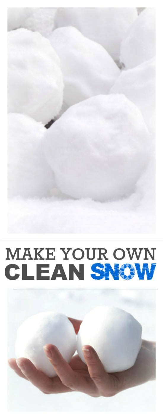 HOW TO MAKE CLEAN SNOW- a super fun Winter activity for kids!