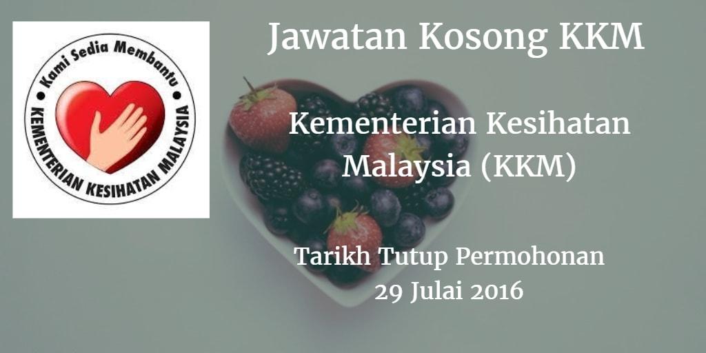 Jawatan Kosong KKM 29 Julai 2016