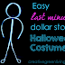 Easy Last Minute Halloween Costume: Glowing Stick Man