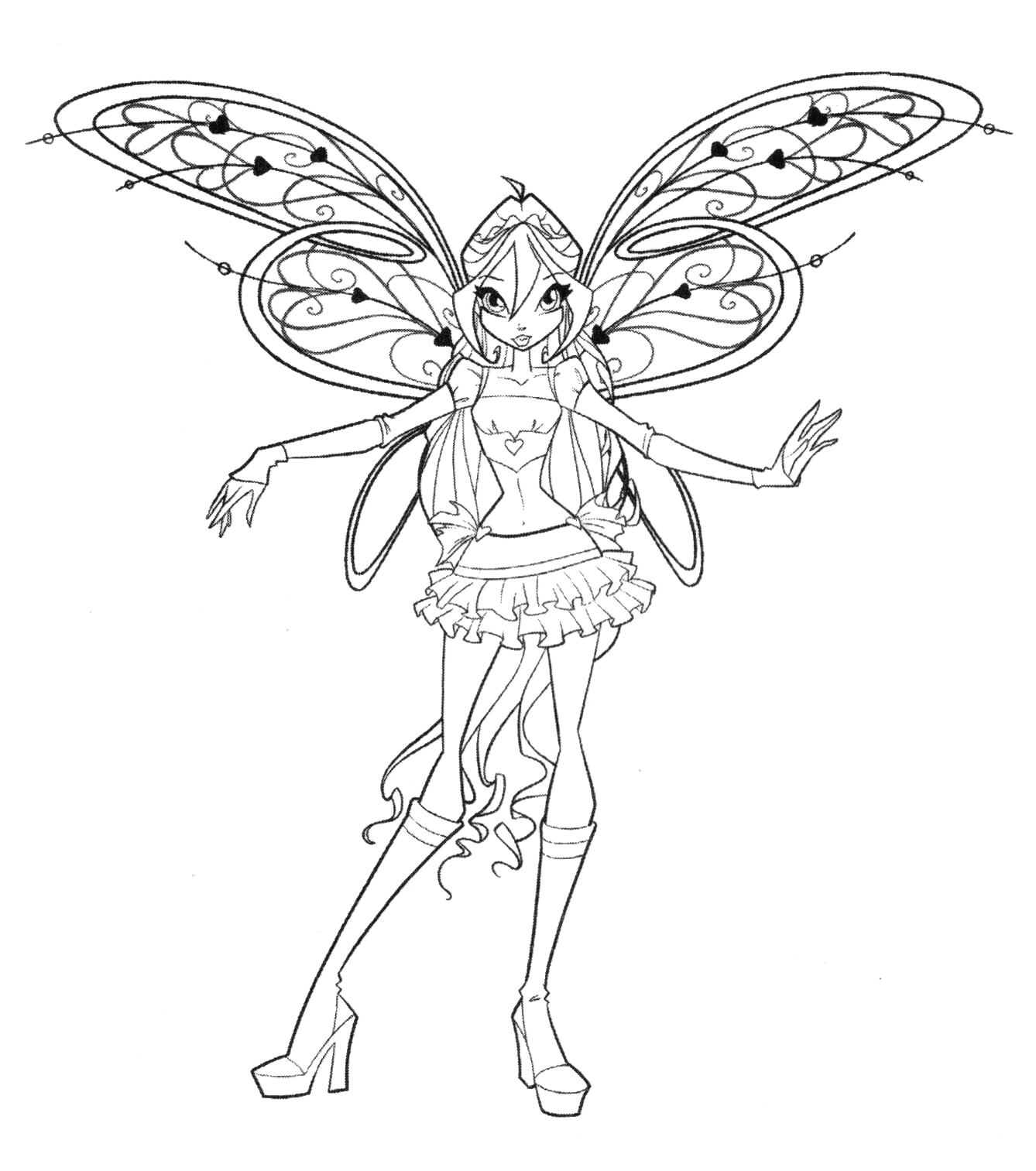 winx believix coloring pages | Winx Club All: Colorear: Winx Club Believix