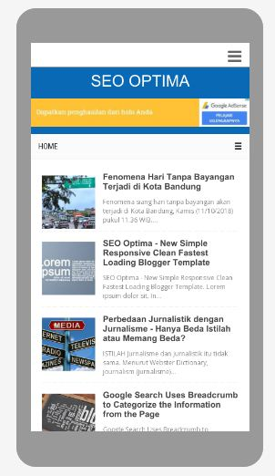 SEO Optima: Template Blog Terbaru, SEO Friendly, Responsive, Ringan, Simple