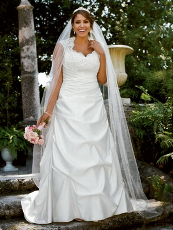 2011 Davids Bridal Plus Size Wedding Dresses Spring Collection ...