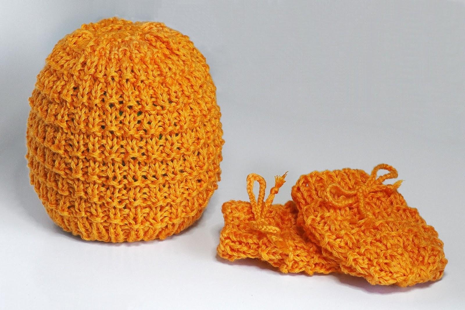 Mütze und Handschuhe für Babies stricken