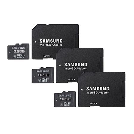 "Samsung "" 3 PACK "" 32GB microSDHC Pro"