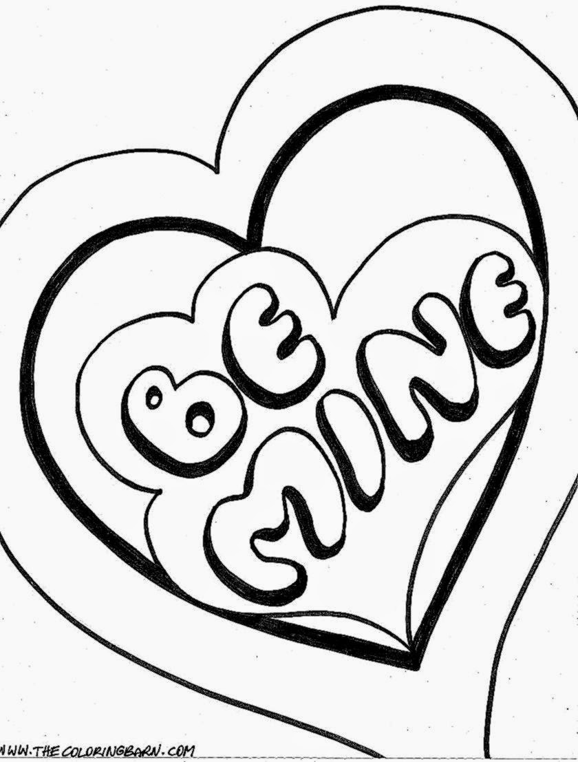 Valentine Coloring Sheets | Free Coloring Sheet