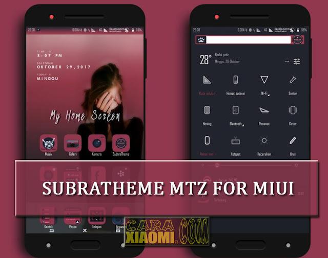 Best MIUI Theme Subratheme Mtz Full Features For Xiaomi