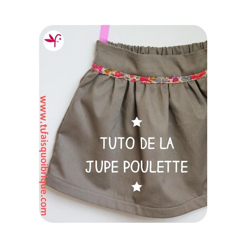 Sehr Tu fais-quoi-brique maman?: Ma jupe élastiquée au dos. TUTO INSIDE! JU81