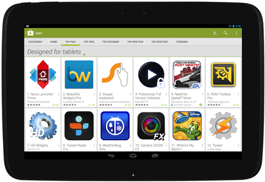 More Visibility for Tablet Apps in Google Play | Android Developers Blog