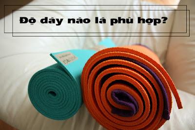 Độ dày của thảm tập Yoga