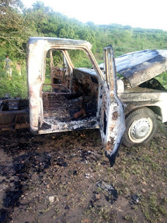 Veículo de Picuiense tomado de assalto em Remígio foi encontrado completamente queimado na zona rural do município