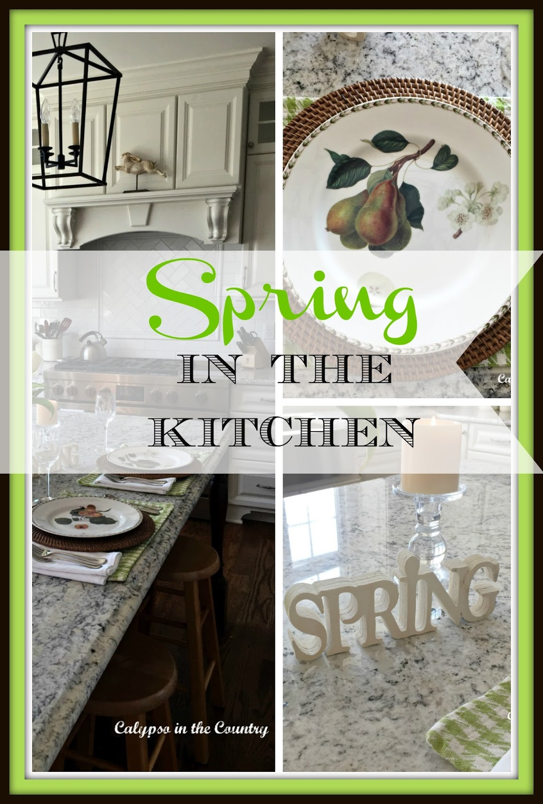 Spring Table Setting on the Island - Calypso in the Country blog