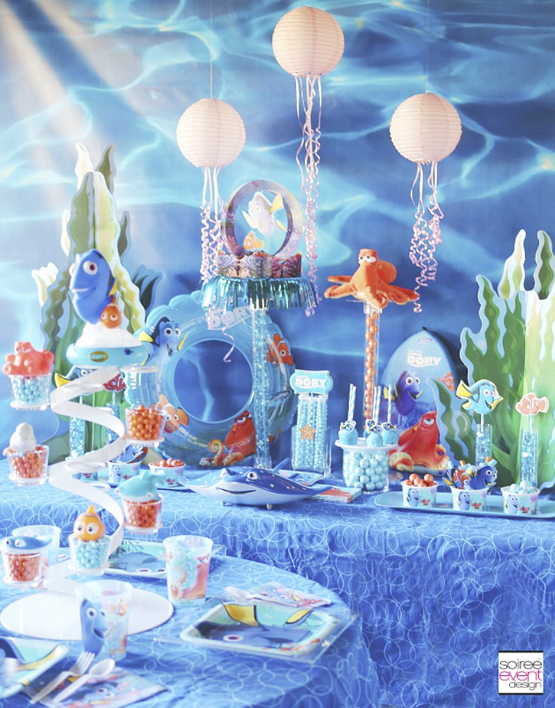 Finding Dory Party Ideas via BirdsParty.com @birdsparty