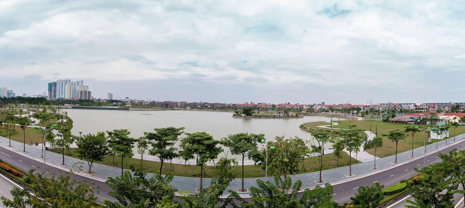 Hướng View hồ điều hòa rộng 15 ha tại dự án chung cư An Bình City