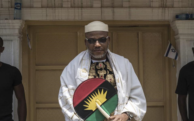 Beyound Bail Condition Nnamdi Kanu Grants Press Interview, Said They want Biafra Because Nigeria  is not Functioning and Cant Function That's Why