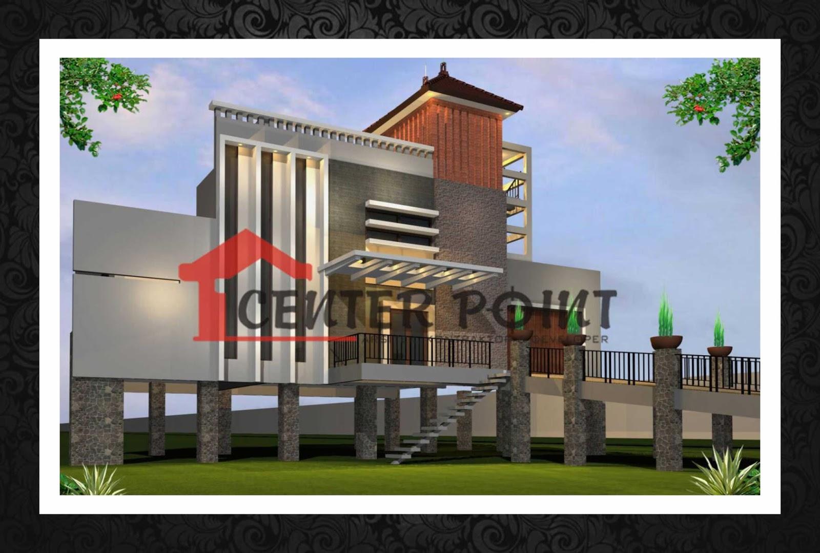 Jasa Arsitek Probolinggo Fasade Homestay Villa Minimalis Modern 3