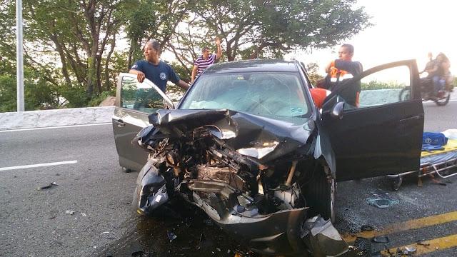 Dos lesionados por accidente en la Escénica de Acapulco