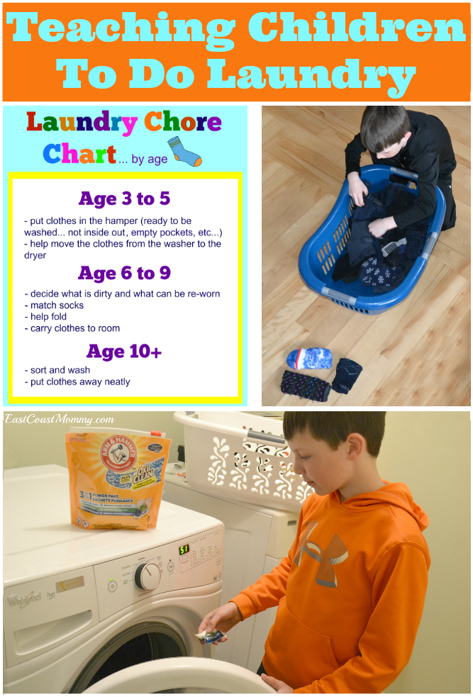 East Coast Mommy: Teaching Children to do Laundry