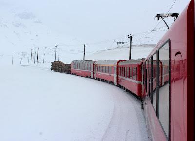 Viaje a los Alpes en el Bernina Express